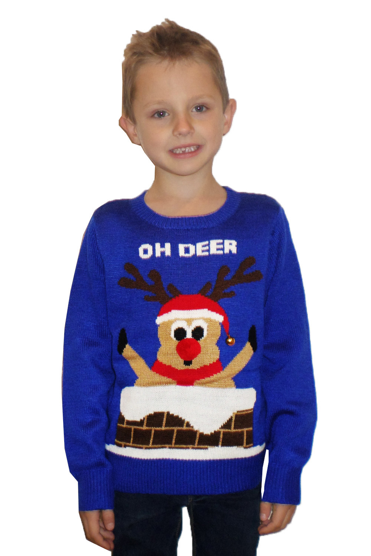 Kids 3D Novelty Christmas Jumper Boys Girls Knitted Crew Neck Xmas ...