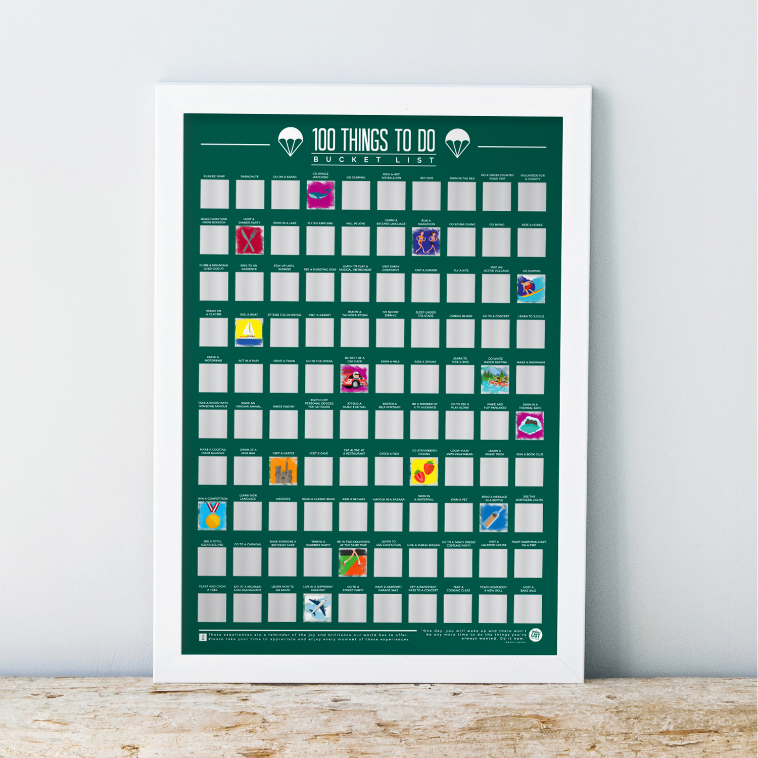 100-Scratch-Off-Things-To-Do-Bucket-List-Fun-Challenge-Novelty-Gift-Posters thumbnail 3