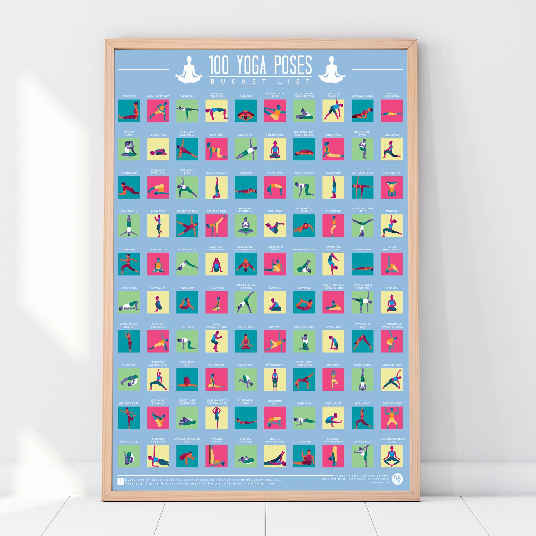 100-Scratch-Off-Yoga-Bucket-List-Fun-Challenge-Novelty-Gift-Idea-Posters thumbnail 3