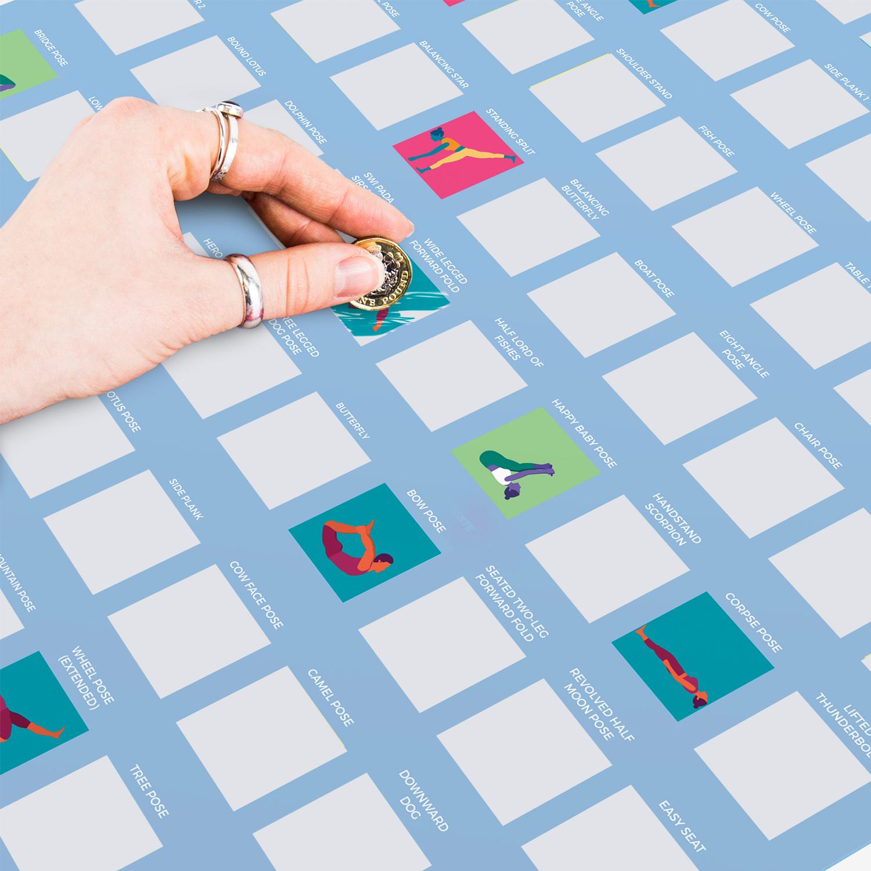 100-Scratch-Off-Yoga-Bucket-List-Fun-Challenge-Novelty-Gift-Idea-Posters thumbnail 4