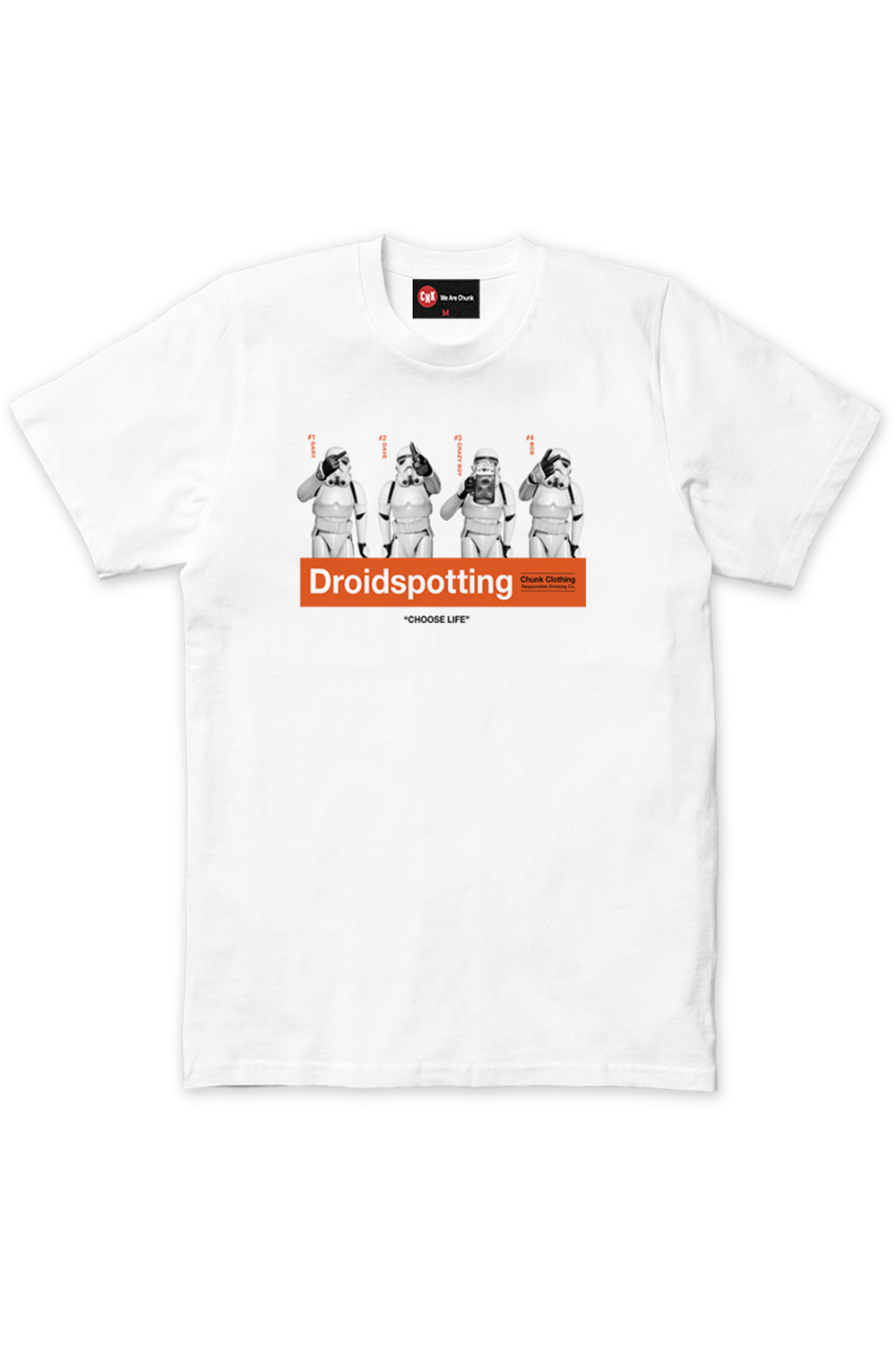 Chunk-Mens-Official-Star-Wars-Droidspotting-T-Shirt-Crew-Neck-Stormtrooper-Tee thumbnail 3