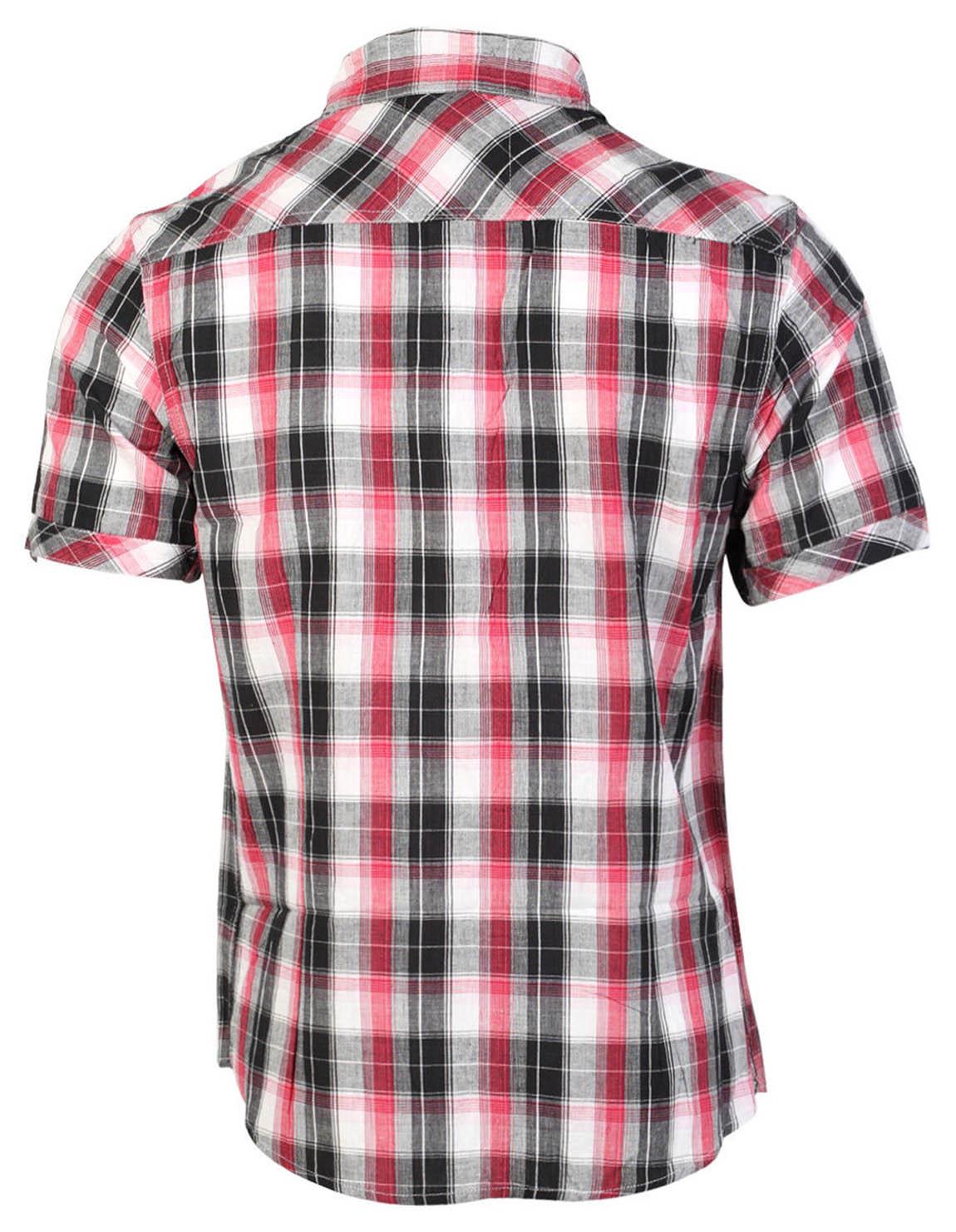 Tokyo-Laundry-Para-Hombre-Camisa-de-cuadros-de-Maryland-2-en-1-Top-cuello-con-cuello-O-Embudo miniatura 8