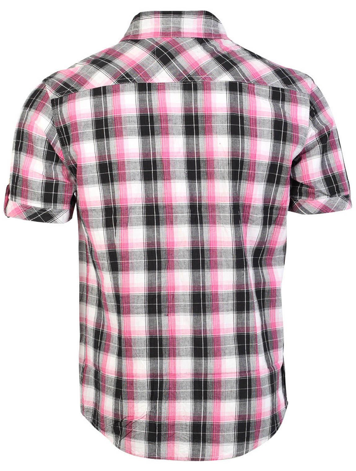 Tokyo-Laundry-Para-Hombre-Camisa-de-cuadros-de-Maryland-2-en-1-Top-cuello-con-cuello-O-Embudo miniatura 13