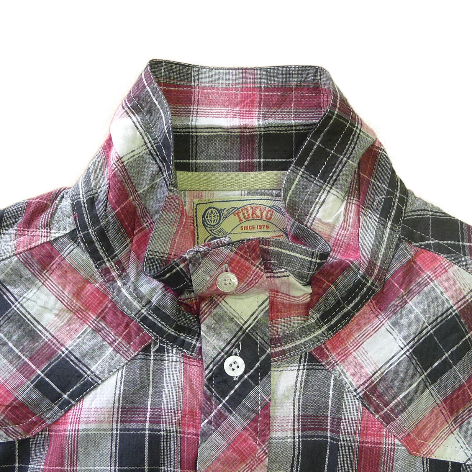 Tokyo-Laundry-Para-Hombre-Camisa-de-cuadros-de-Maryland-2-en-1-Top-cuello-con-cuello-O-Embudo miniatura 10