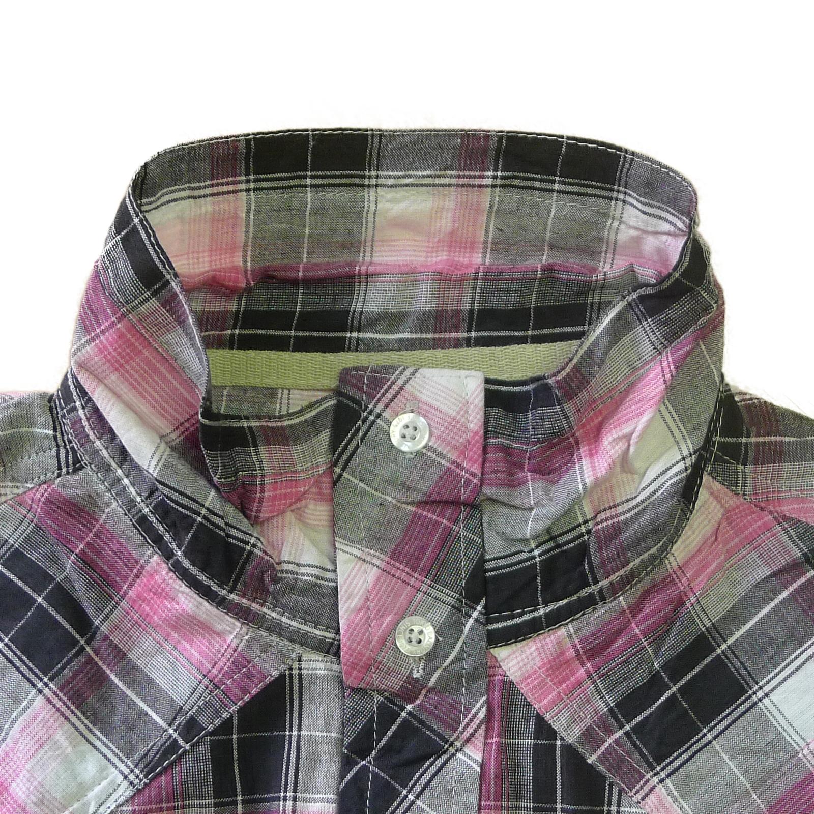 Tokyo-Laundry-Para-Hombre-Camisa-de-cuadros-de-Maryland-2-en-1-Top-cuello-con-cuello-O-Embudo miniatura 15