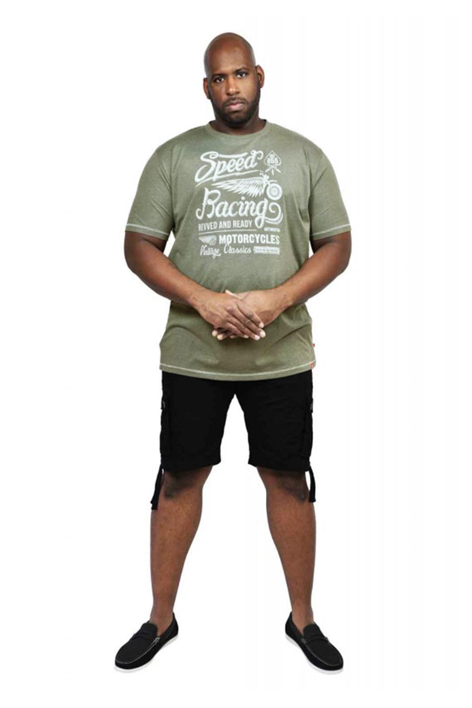 DUKE d555 Mens BIG TALL King Size Cortez Clayton Top T-Shirt Stampa Grafica Hawaii