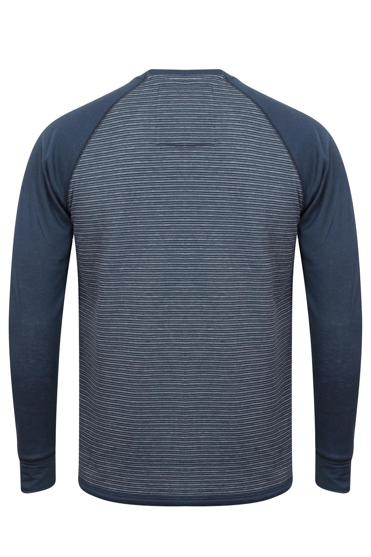 Tokyo-Laundry-Para-Hombre-Raglan-Camiseta-manga-larga-de-algodon-suave-mezcla-Slub-Jersey-Top miniatura 7