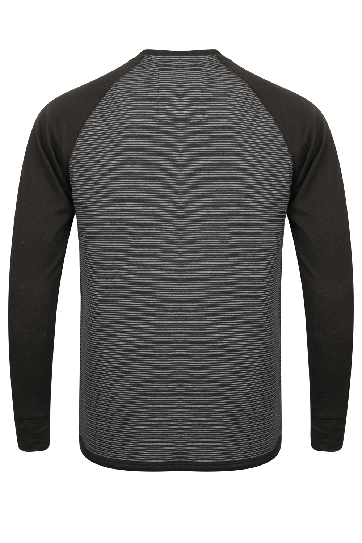 Tokyo-Laundry-Para-Hombre-Raglan-Camiseta-manga-larga-de-algodon-suave-mezcla-Slub-Jersey-Top miniatura 9