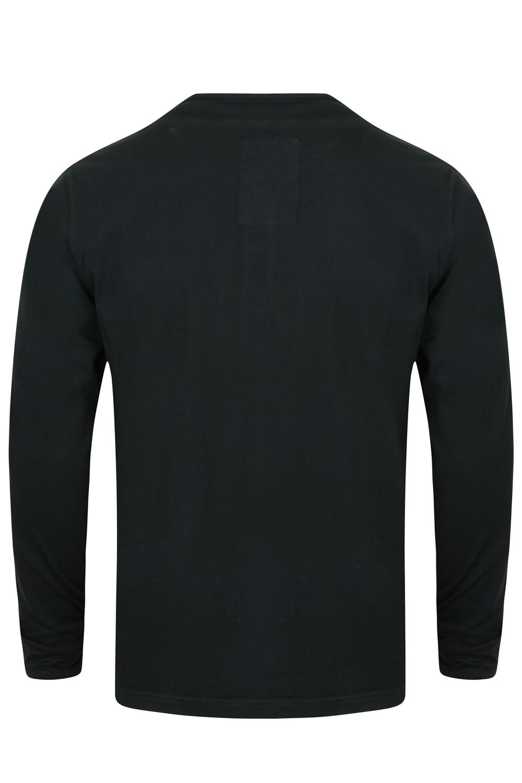 Tokyo-Laundry-Para-Hombre-Raglan-Camiseta-manga-larga-de-algodon-suave-mezcla-Slub-Jersey-Top miniatura 13