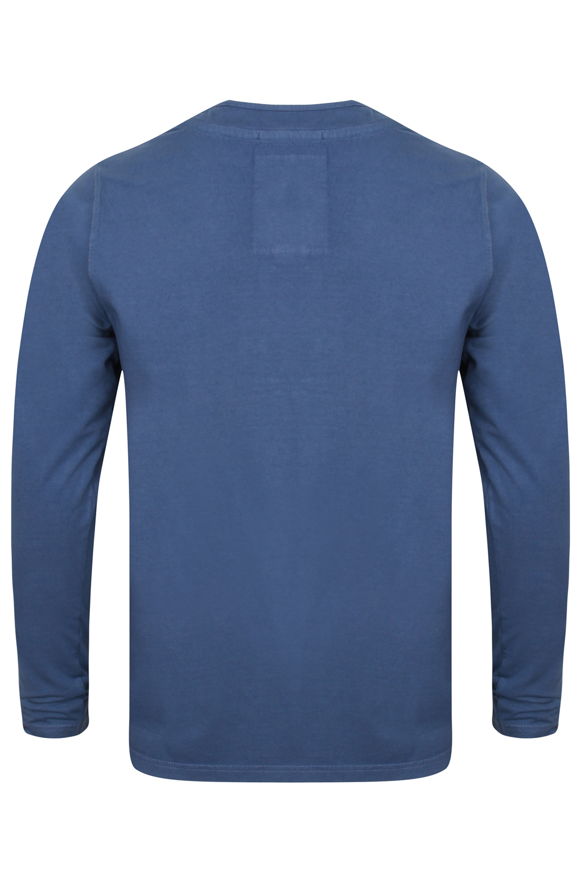 Tokyo-Laundry-Para-Hombre-Raglan-Camiseta-manga-larga-de-algodon-suave-mezcla-Slub-Jersey-Top miniatura 15