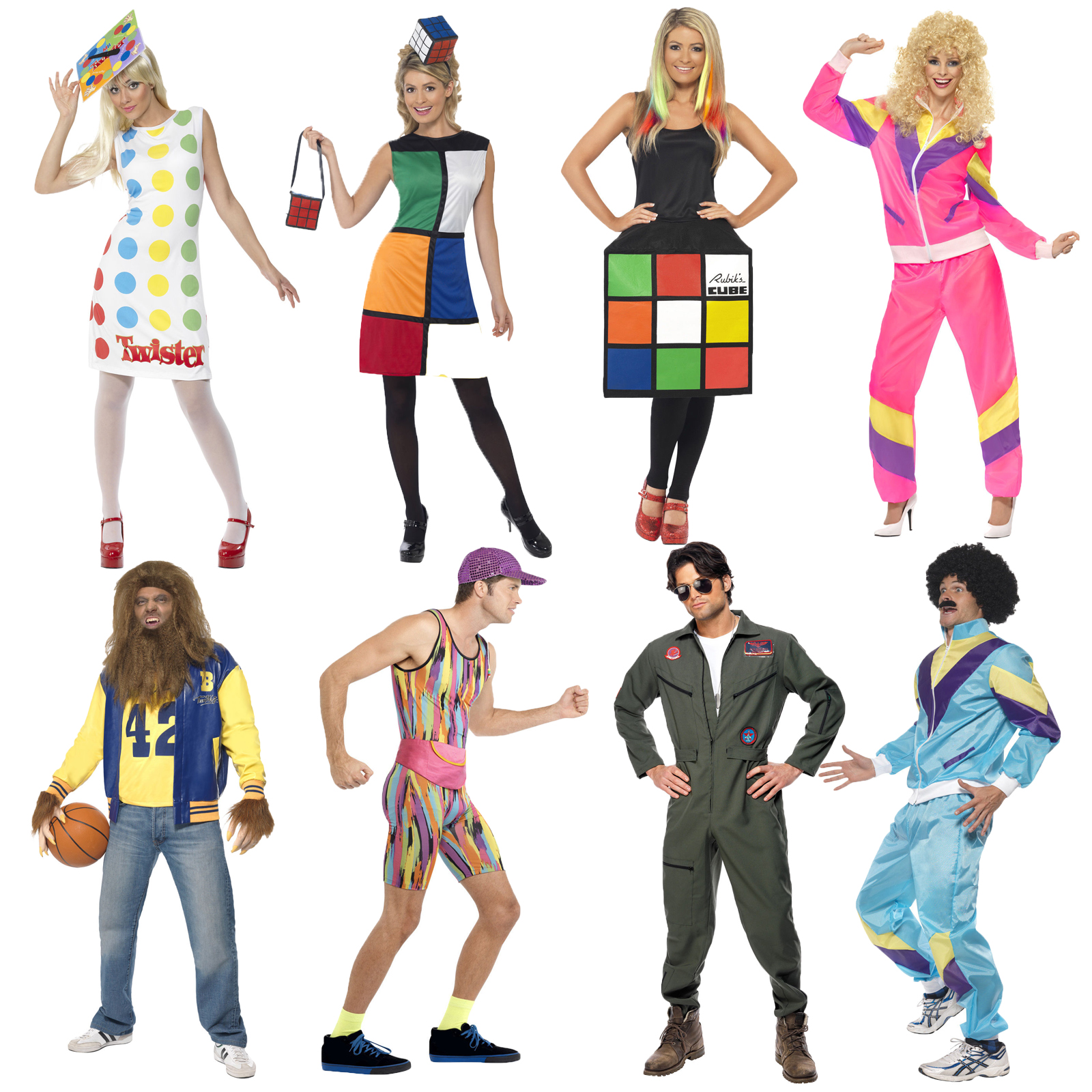 smiffys official adults 80s 90s fashion costume music