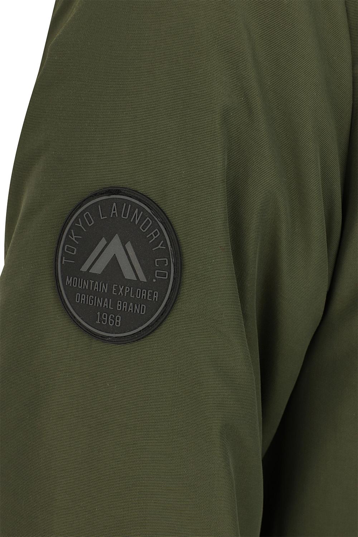Mens-Tokyo-Laundry-Eskell-Hooded-Coat-Long-line-Parka-Padded-Windbreaker-Jacket Indexbild 9