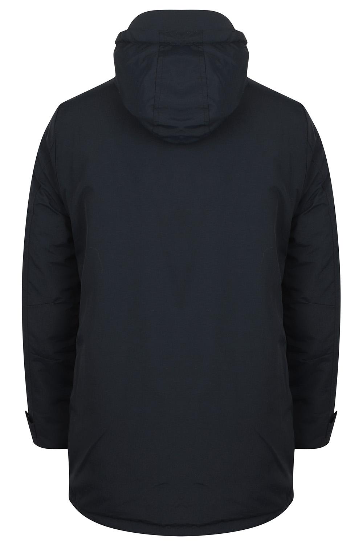 Mens-Tokyo-Laundry-Eskell-Hooded-Coat-Long-line-Parka-Padded-Windbreaker-Jacket Indexbild 4