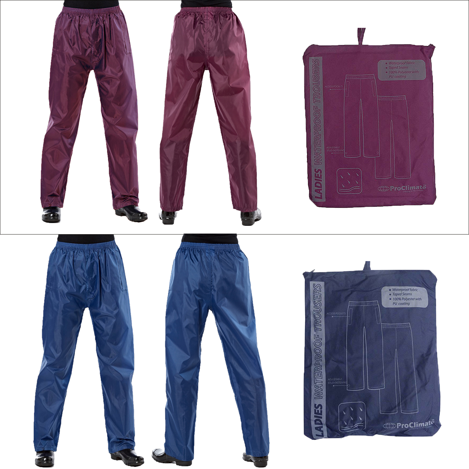 ProClimate Womens Waterproof Over Trousers