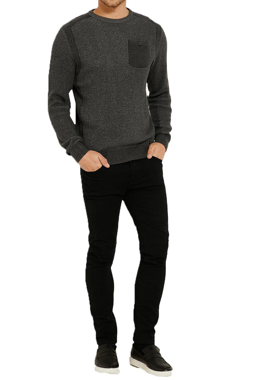 Vecchia-UOMO-CELTICO-girocollo-classico-Sweater-Knit-WAFFLE-PULLOVER-MAGLIONE miniatura 6