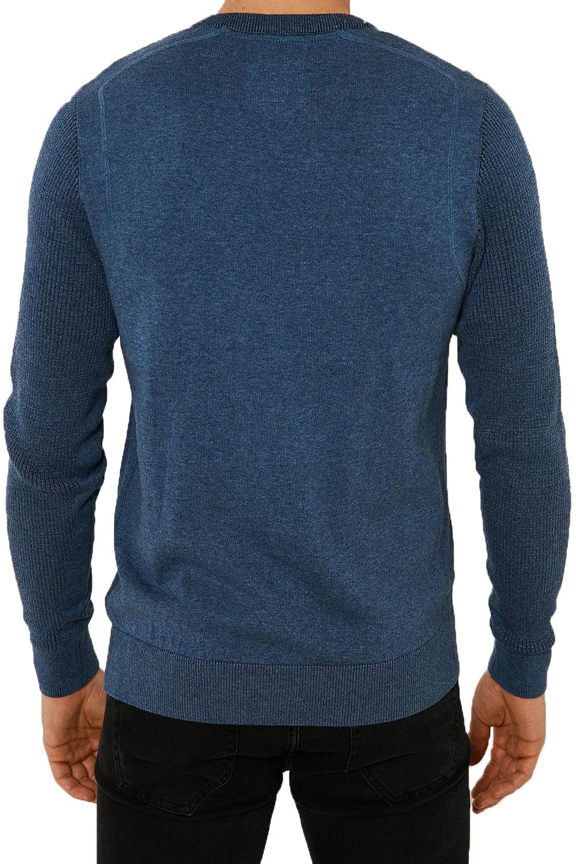 Vecchia-UOMO-CELTICO-girocollo-classico-Sweater-Knit-WAFFLE-PULLOVER-MAGLIONE miniatura 9