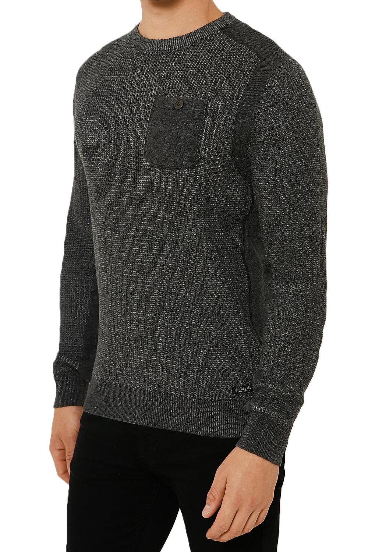 Vecchia-UOMO-CELTICO-girocollo-classico-Sweater-Knit-WAFFLE-PULLOVER-MAGLIONE miniatura 3