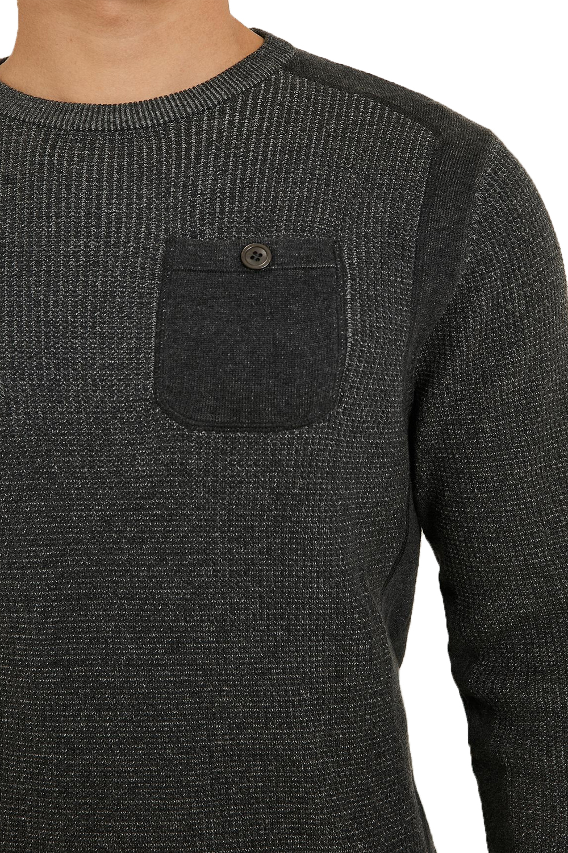 Vecchia-UOMO-CELTICO-girocollo-classico-Sweater-Knit-WAFFLE-PULLOVER-MAGLIONE miniatura 5