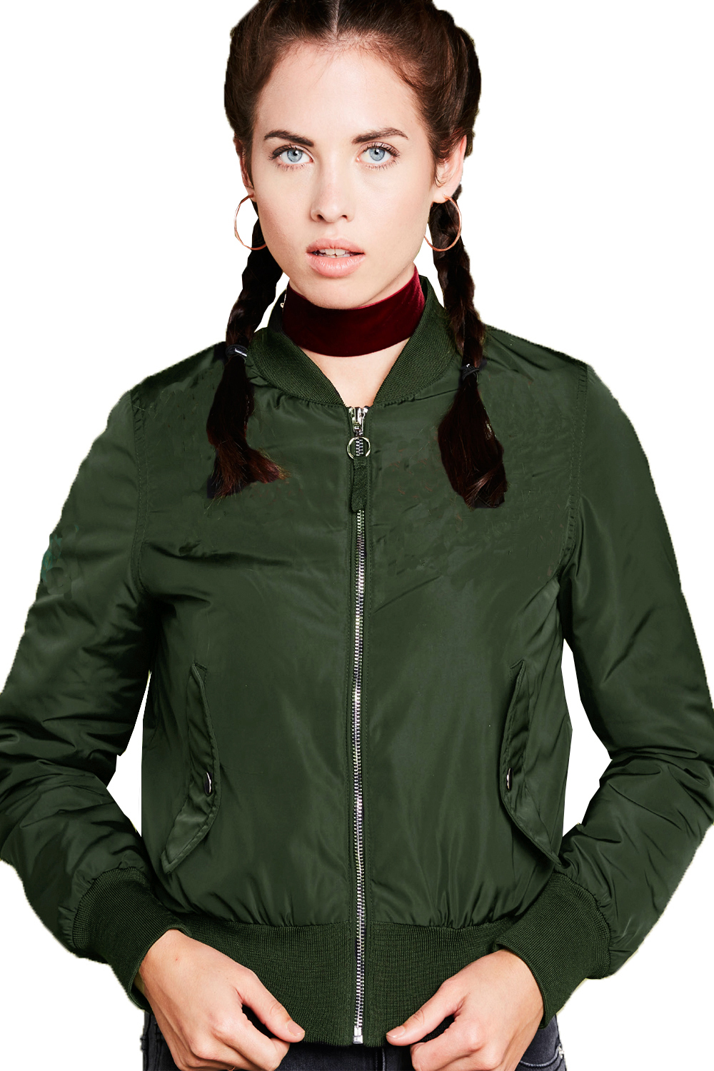 Brave-Soul-Womens-Army-Bomber-Jacket-Ladies-Designer-Padded-MA1-Biker-Coat