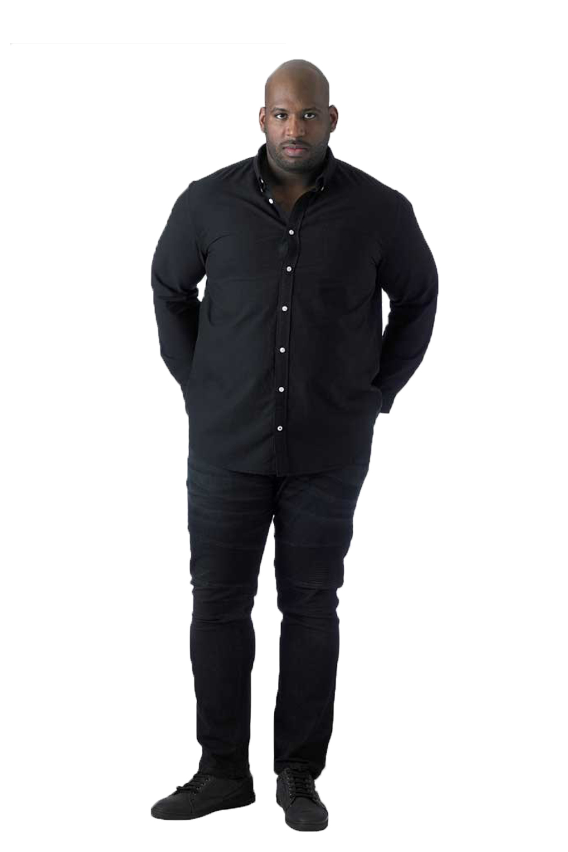 Duke-D555-hombre-Alastair-Big-Tall-Tamano-King-Botones-Camisa-Oxford-Cuello-de-punto