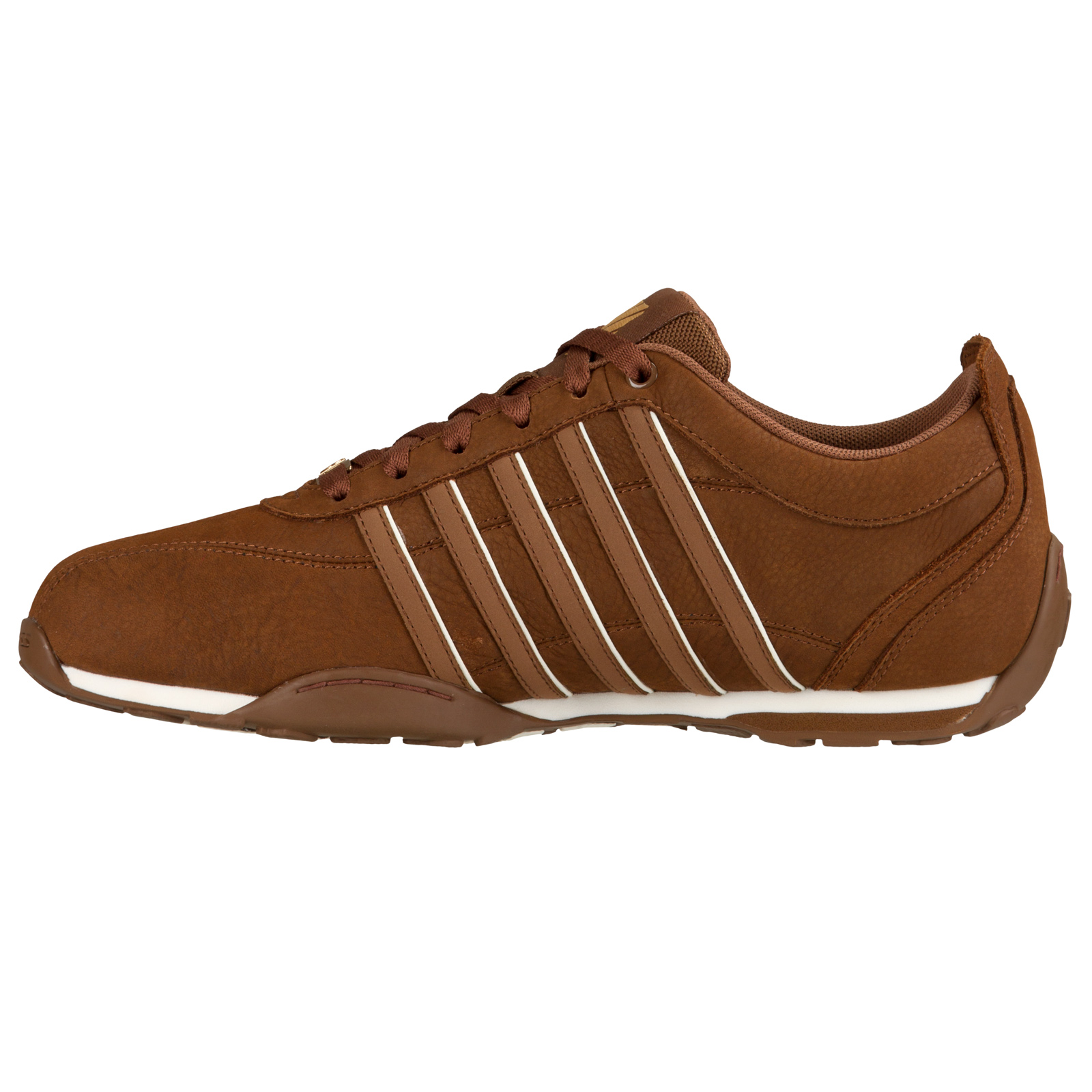 K-Swiss Lace Mens Arvee Designer Lace K-Swiss Shoe Classic Iconic Premium Leather Trainers 51b98a