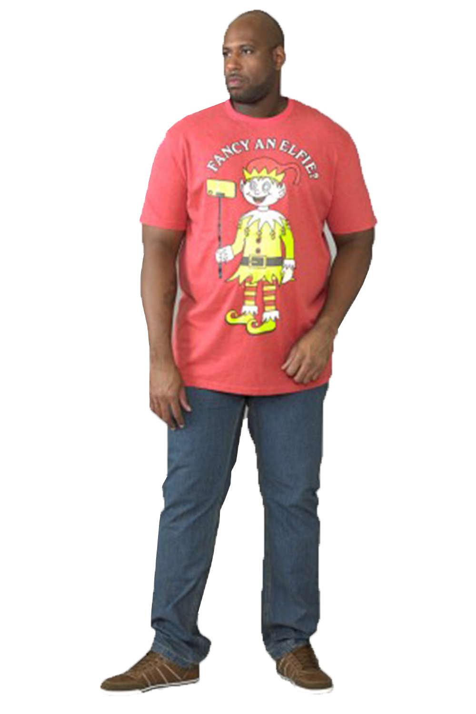 New Men/'s Duke D555 Jolly Xmas Festive Novelty Tshirt BIG SIZES 3D Bells