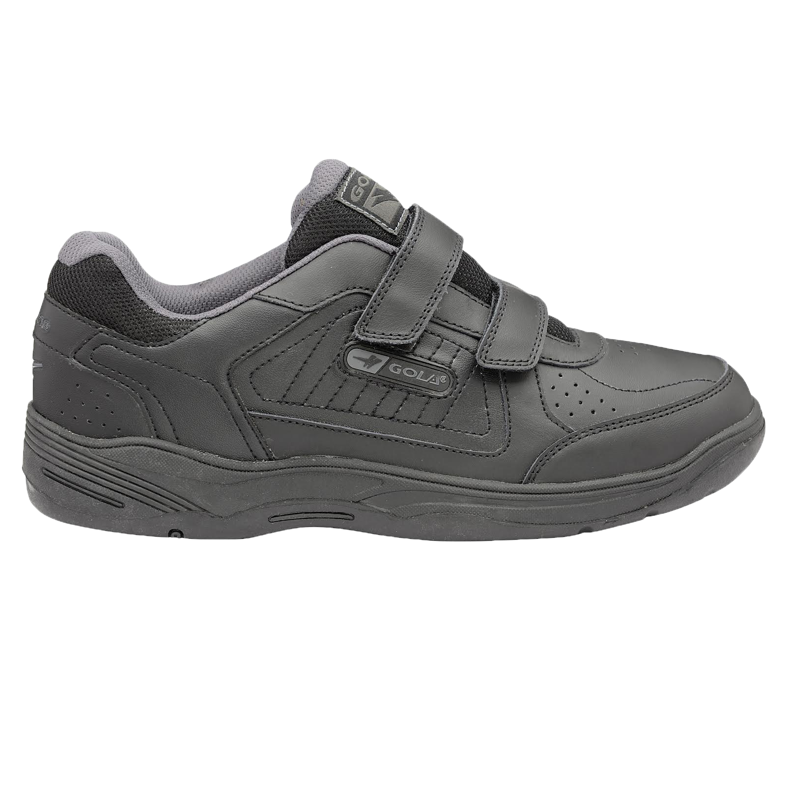 Gola-Belmont-Wide-Fit-EE-Mens-Leather-Or-Suede-Trainers-Size-7-15-UK-Touch-Strap thumbnail 3