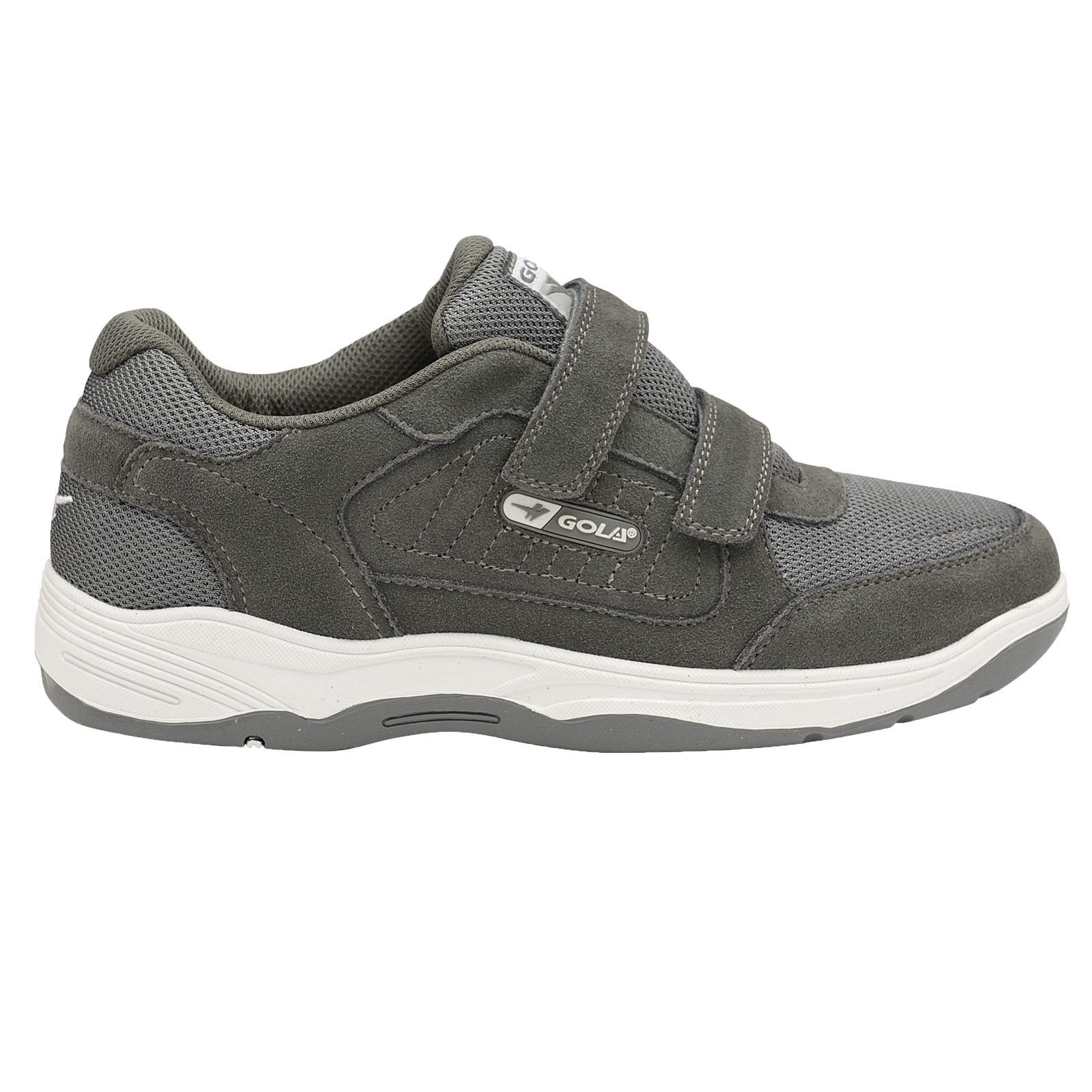 Gola-Belmont-Wide-Fit-EE-Mens-Leather-Or-Suede-Trainers-Size-7-15-UK-Touch-Strap thumbnail 9