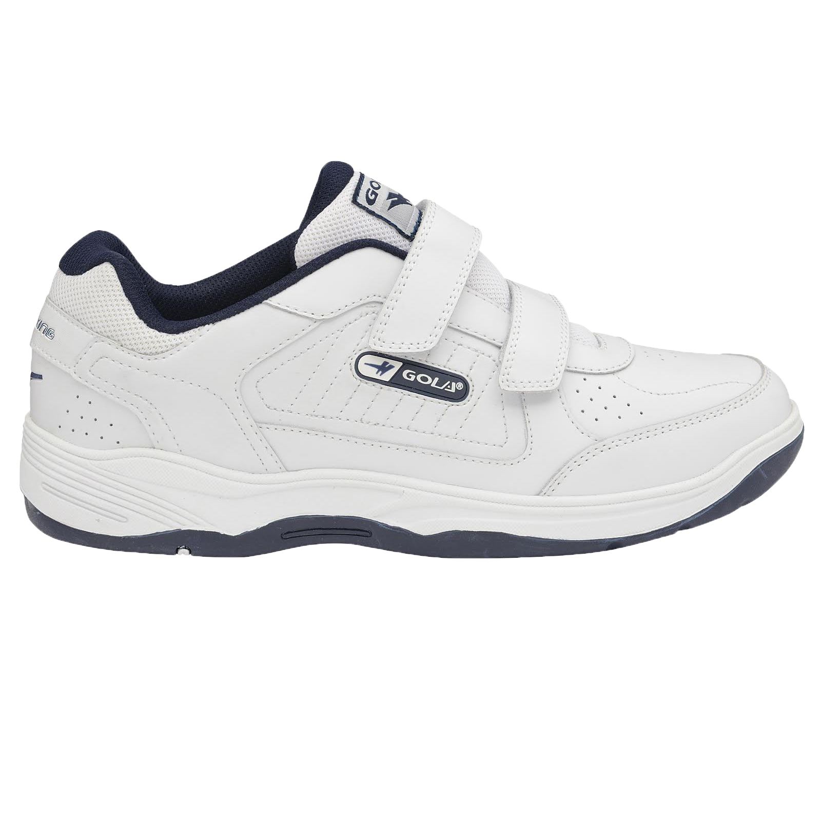 Gola-Belmont-Wide-Fit-EE-Mens-Leather-Or-Suede-Trainers-Size-7-15-UK-Touch-Strap thumbnail 5