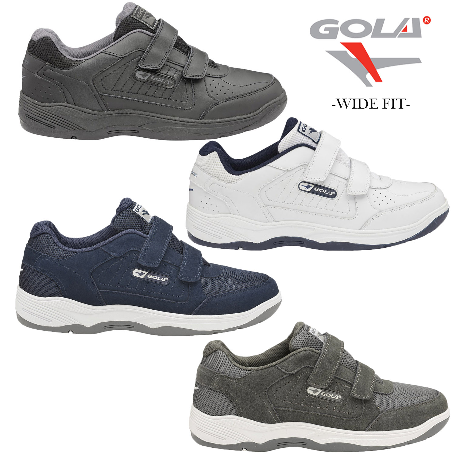 Gola Belmont Wide Fit EE Mens Leather