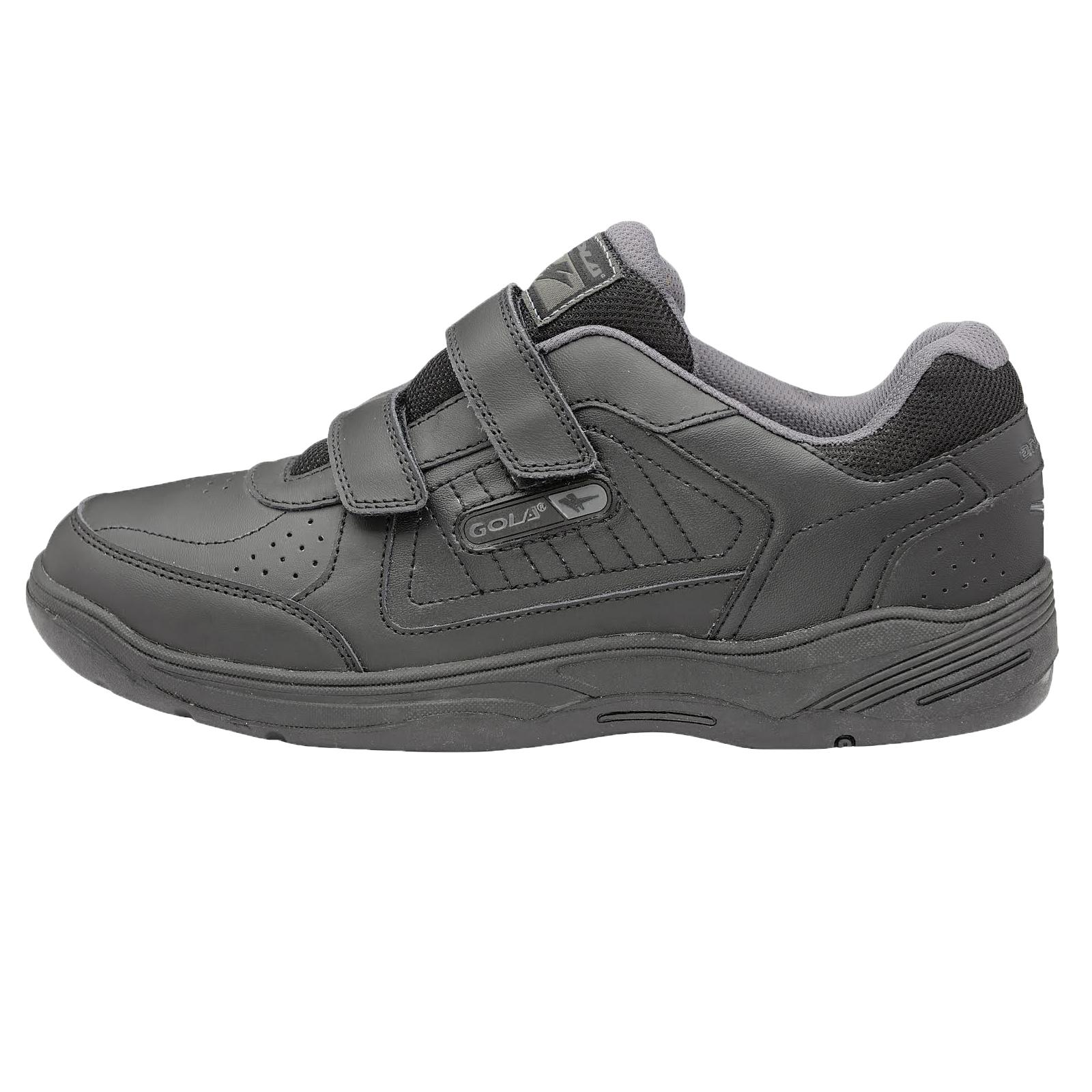 Gola-Belmont-Baskets-Homme-Cuir-Lisse-ou-Daim-Crochet-amp-Boucle-WIDE-FIT-Chaussure