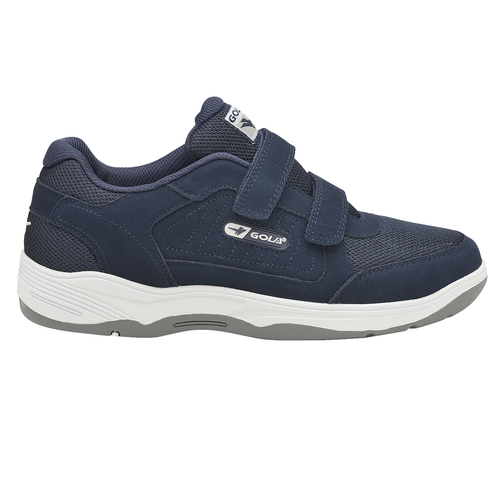 Gola-Belmont-Wide-Fit-EE-Mens-Leather-Or-Suede-Trainers-Size-7-15-UK-Touch-Strap thumbnail 7