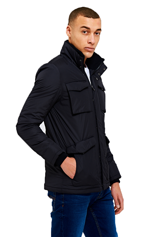 Threadbare-Mens-Designer-Pontiac-Multi-Pocket-Lightly-Padded-Windbreaker-Jacket thumbnail 3