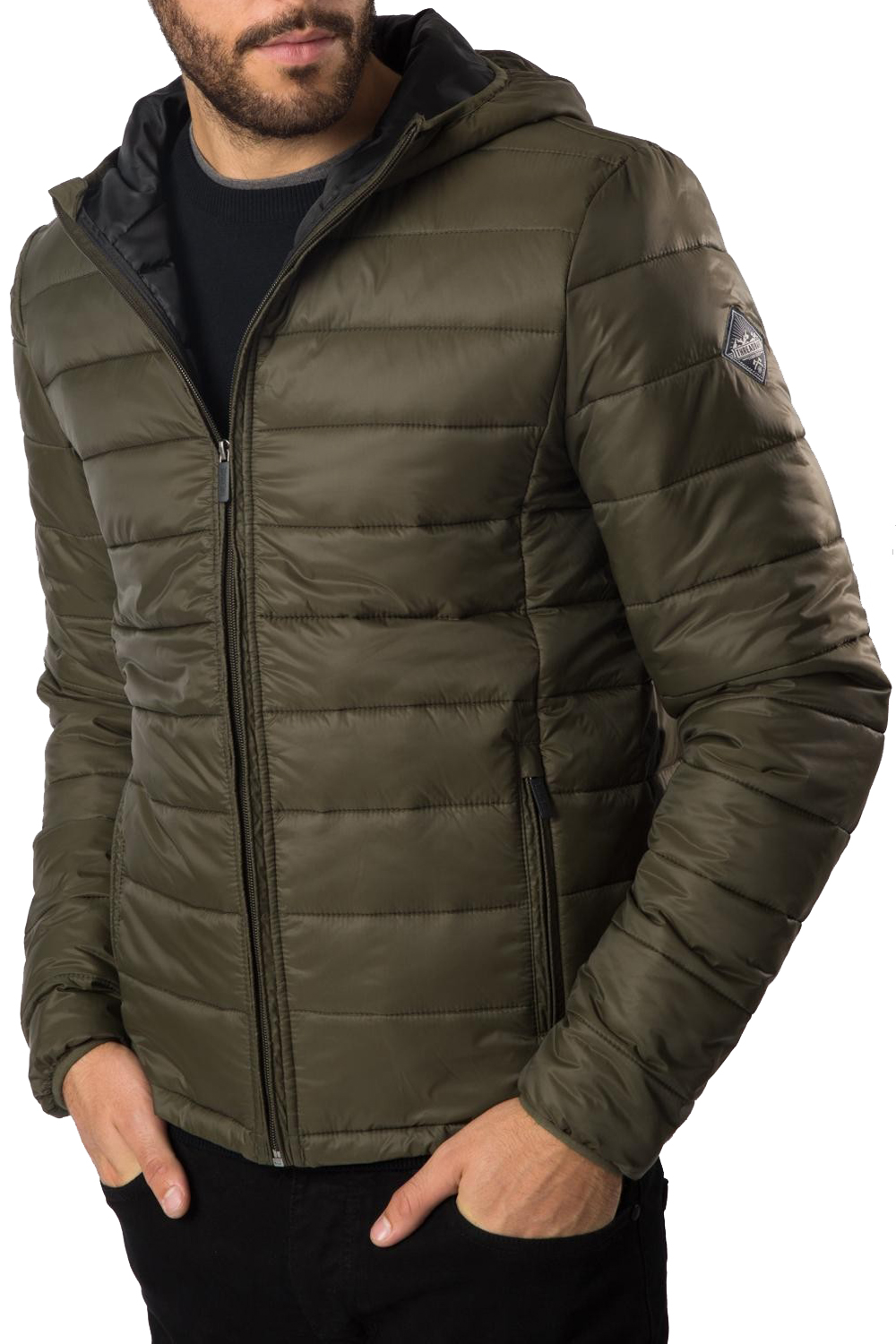 Threadbare Mongrel V2 Hooded Quilt Jacket - L7364