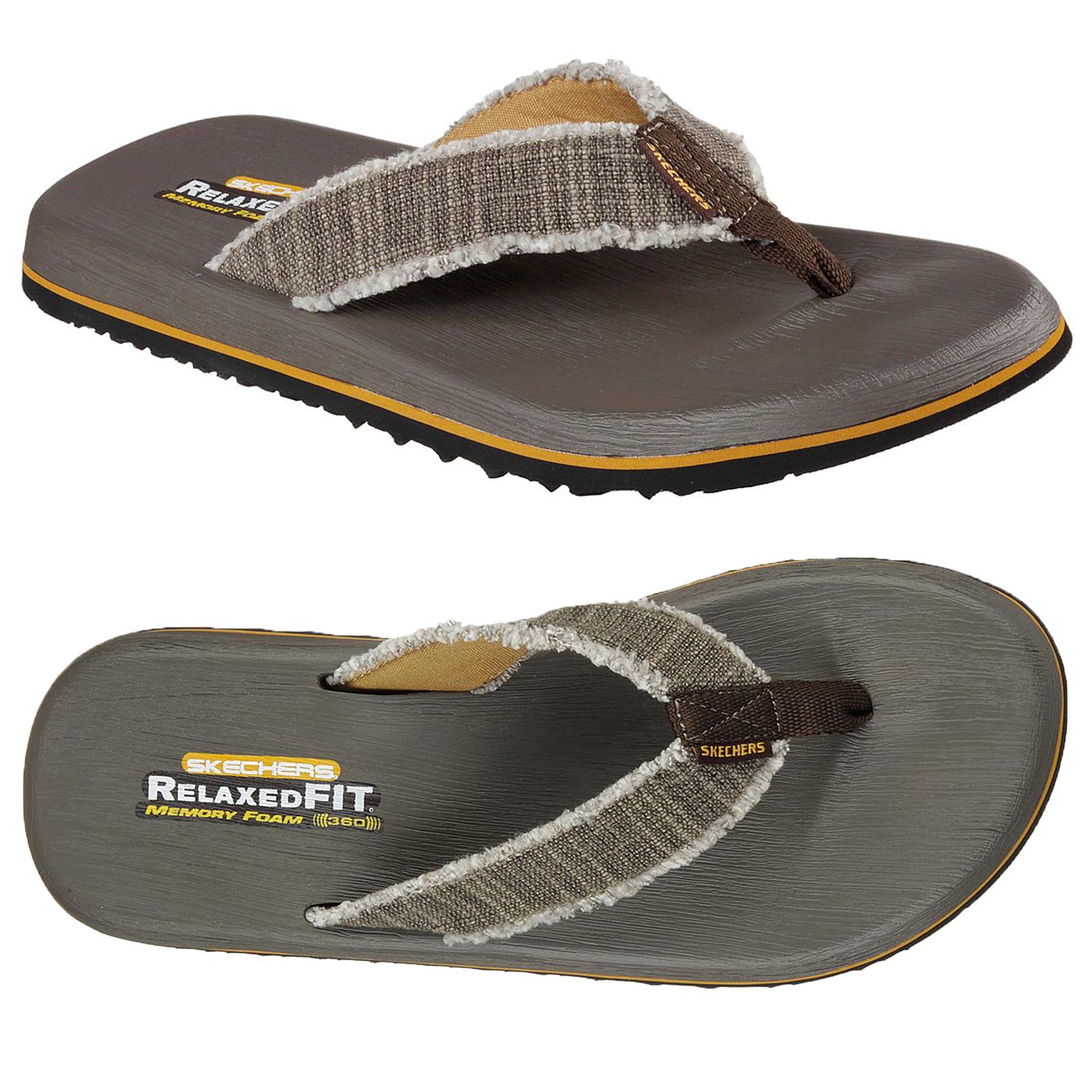 59f9fa15b86f Skechers Mens Tantric Salman Sandals Relaxed Fit Memory Foam 360 ...