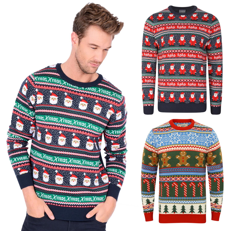 8c7dab8eeac3d Details about Seasons Greetings Mens Womens Fair Isle Christmas Jumper  Luxury Designer Sweater