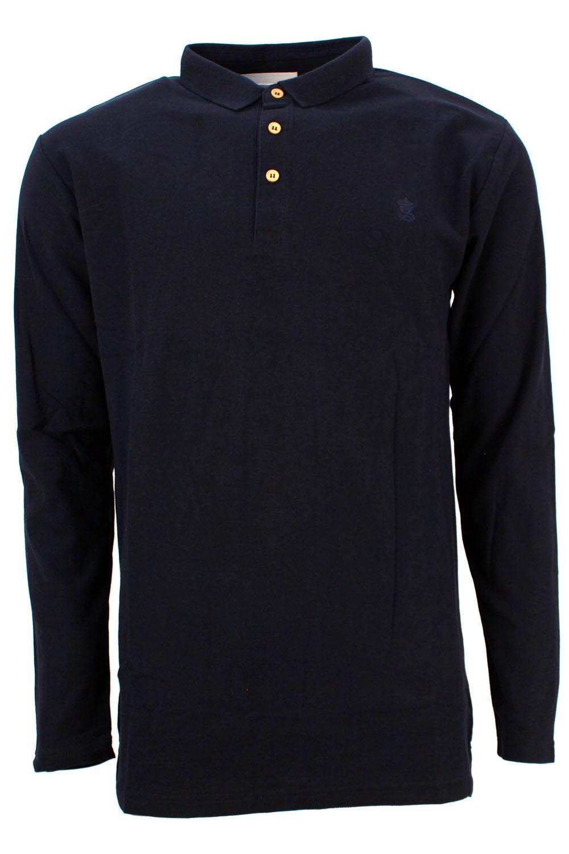 Soulstar Mens Olvera Designer Long Sleeve Polo Neck Collar