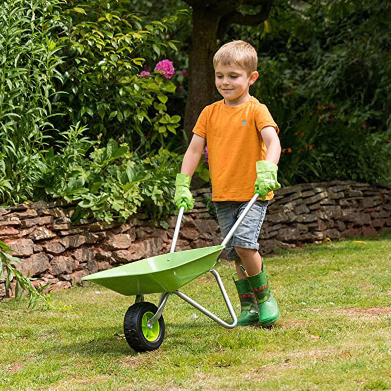 Little-Roots-Childs-Metal-Wheelbarrow-Kids-Gardening-Tools-Garden-Games-Activity thumbnail 5
