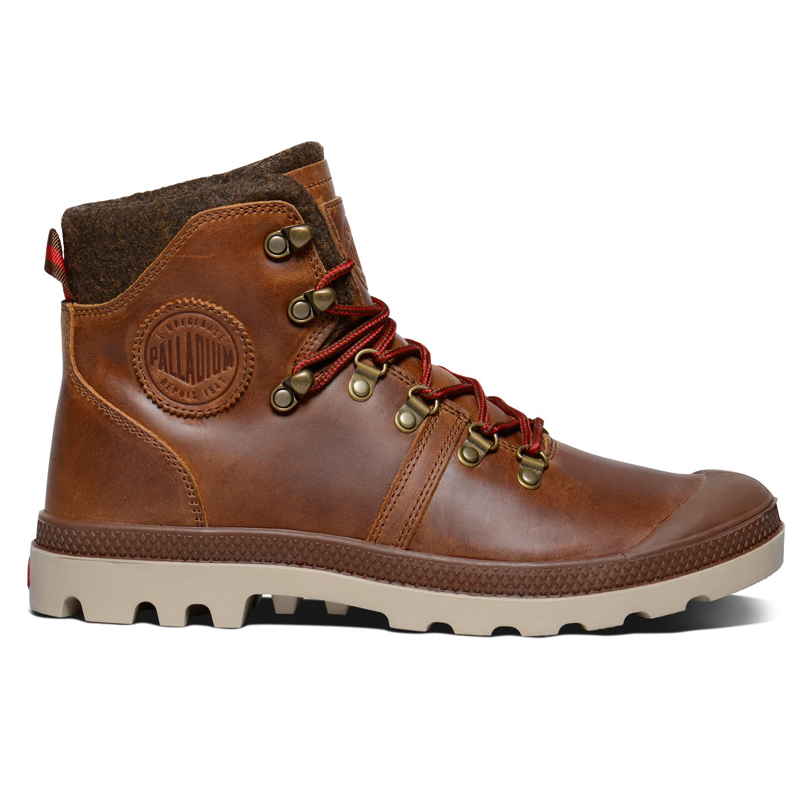 Botas para excursionista Palladium para hombre Pallabrouse Diseñador Fieltro De Fieltro Diseñador Acolchado Cuero Calzado Para Caminar fb67da