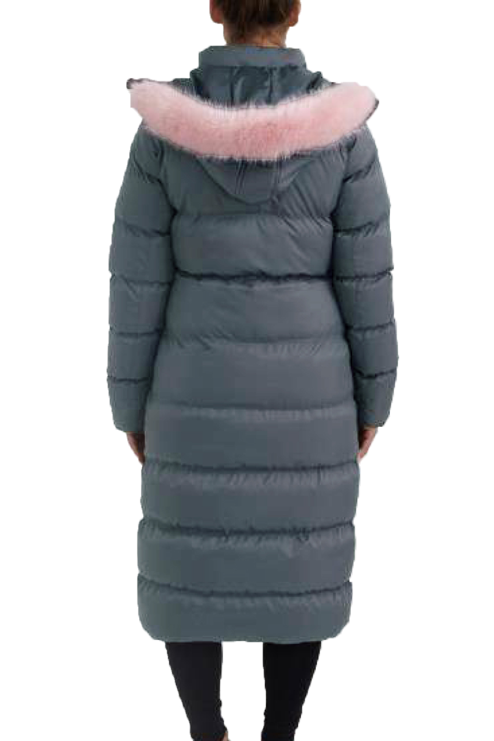 Brave Soul Womens Maxi Length Padded Coat Ladies Pink Faux