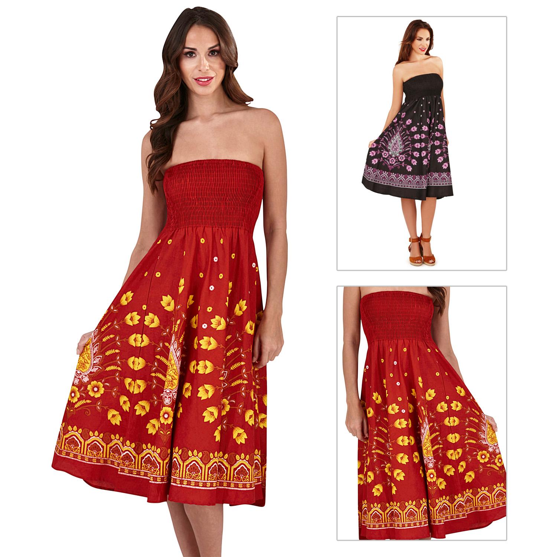 Womens Paisley Floral Printed Elasticated Stretch Skirt Waist Ladies Midi Skirt