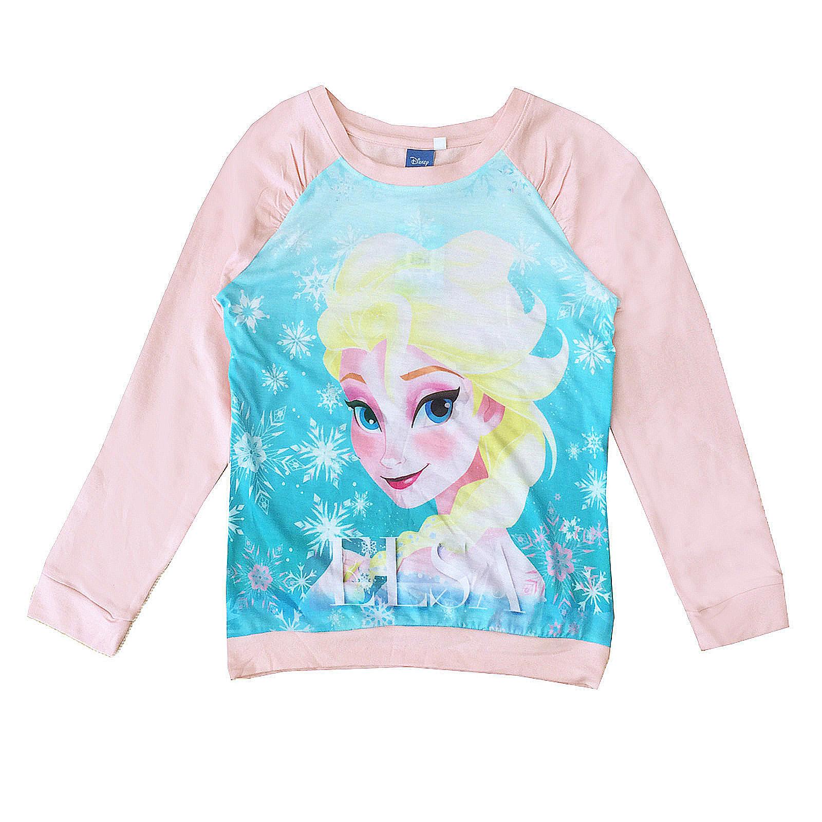 Disney-Frozen-Girls-Official-Elsa-T-Shirt-Sweatshirt-Snow-Queen-Final-Clearance thumbnail 3