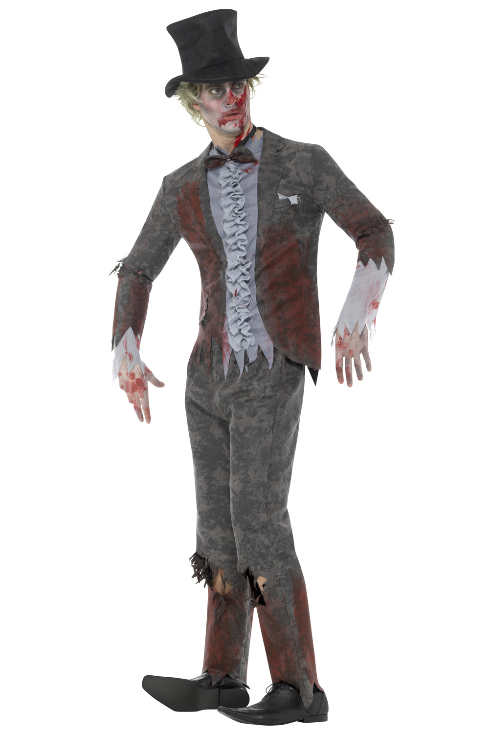 smiffys mens deluxe zombie groom fancy dress costume halloween undead outfit ebay. Black Bedroom Furniture Sets. Home Design Ideas