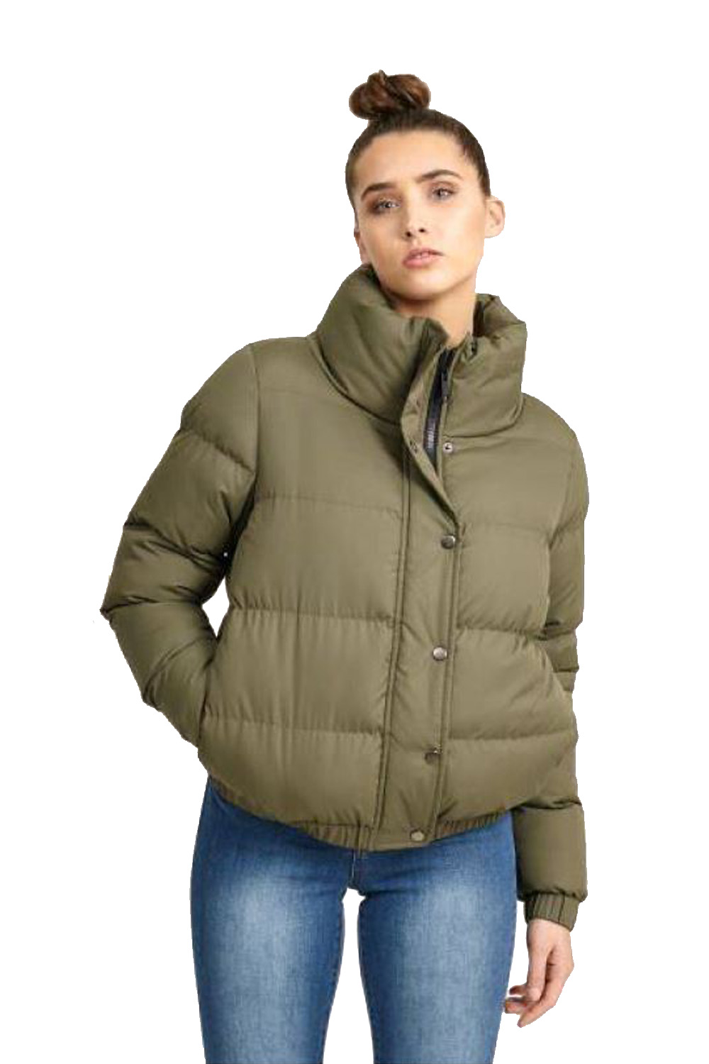 Brave Soul Womens Slay Puffer Padded Quilted Bomber Jacket Ladies