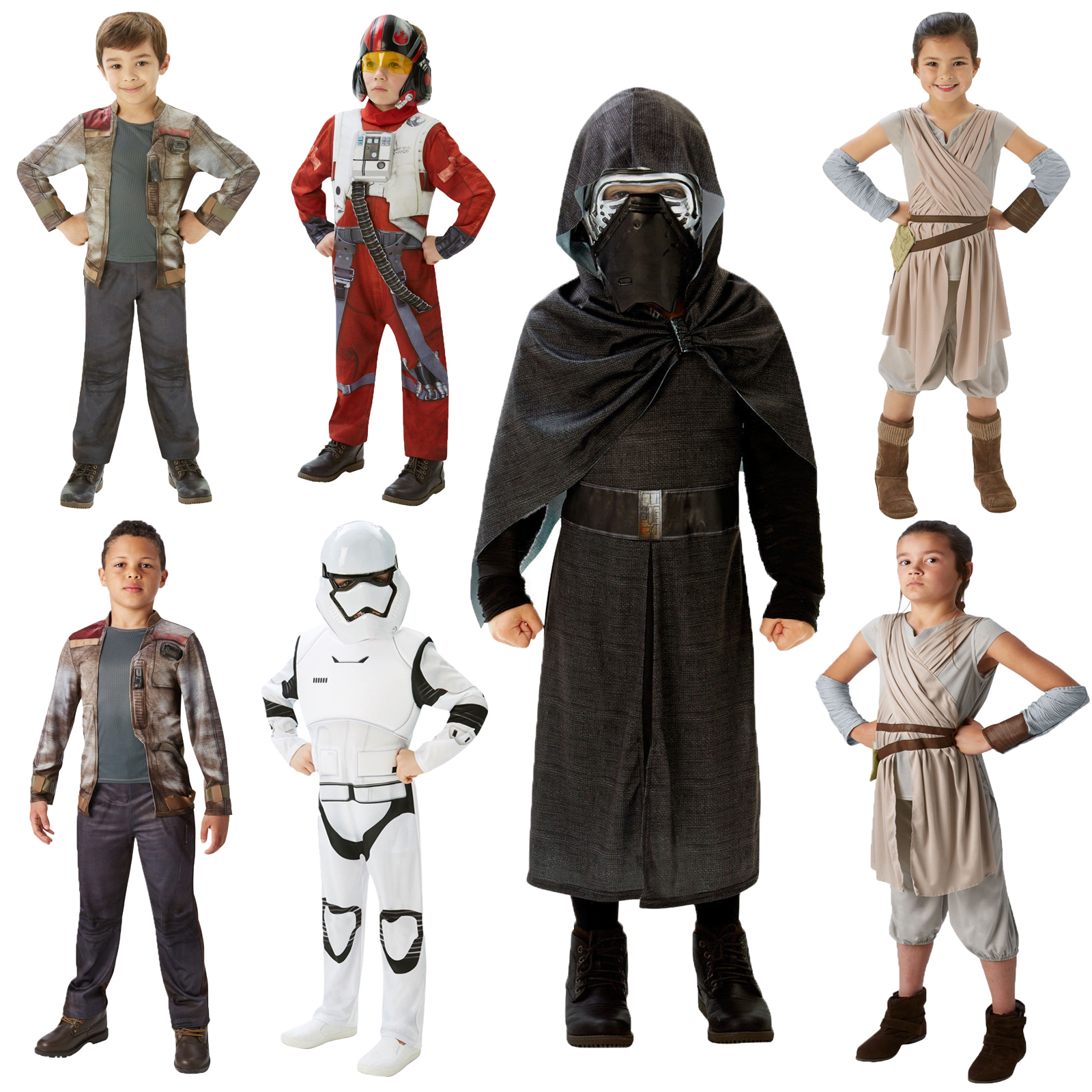 Childs Deluxe Kylo Ren Costume Boys Girls Star Wars Fancy Dress Book Week Outfit