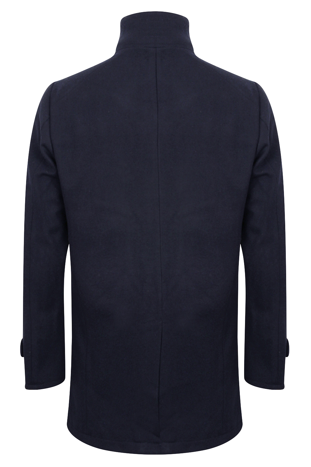 Tokyo-Laundry-Mens-Ackroyd-Smart-Wool-Coat-Funnel-Neck-Zip-Up-Collared-Jacket thumbnail 3
