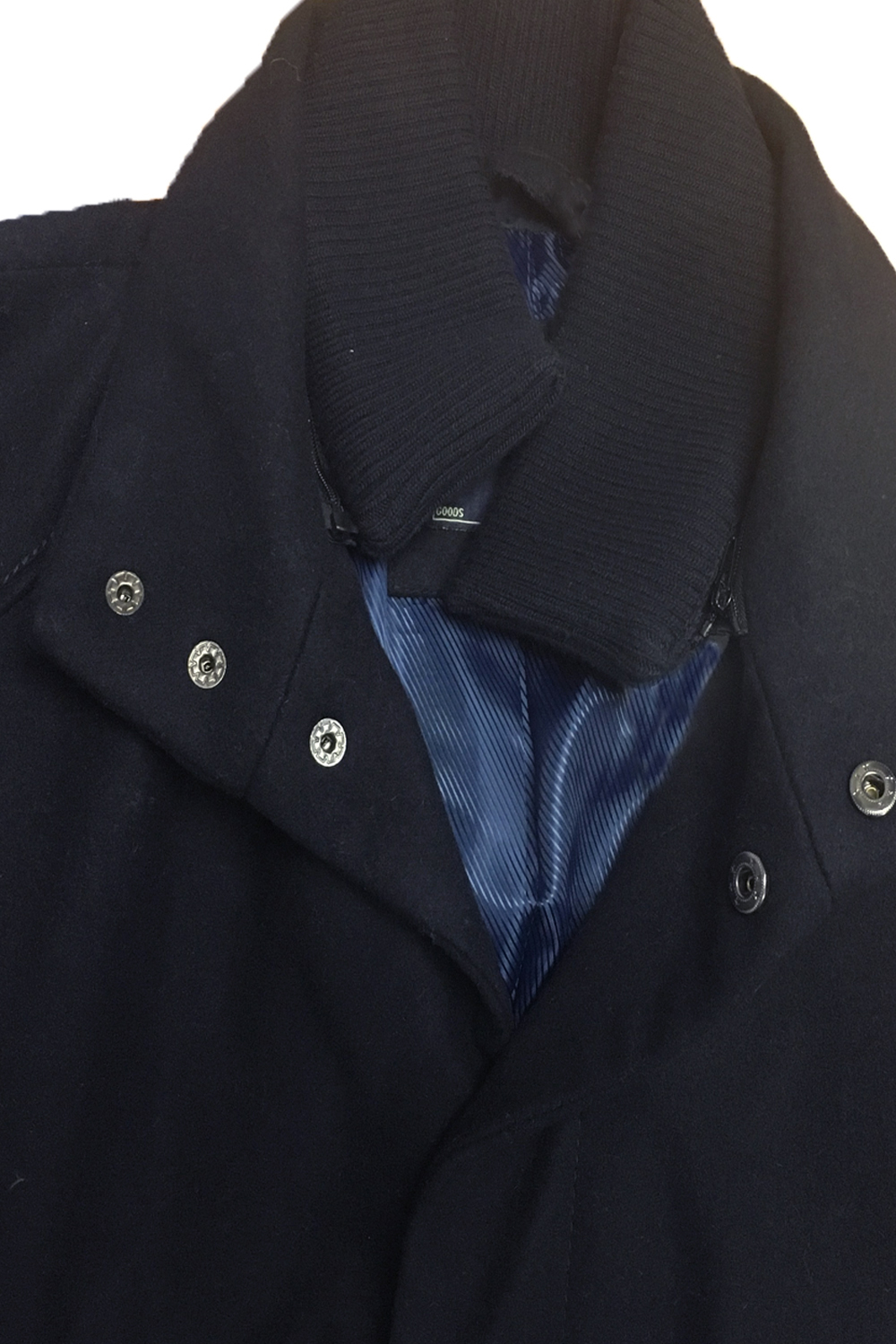 Tokyo-Laundry-Mens-Ackroyd-Smart-Wool-Coat-Funnel-Neck-Zip-Up-Collared-Jacket thumbnail 5
