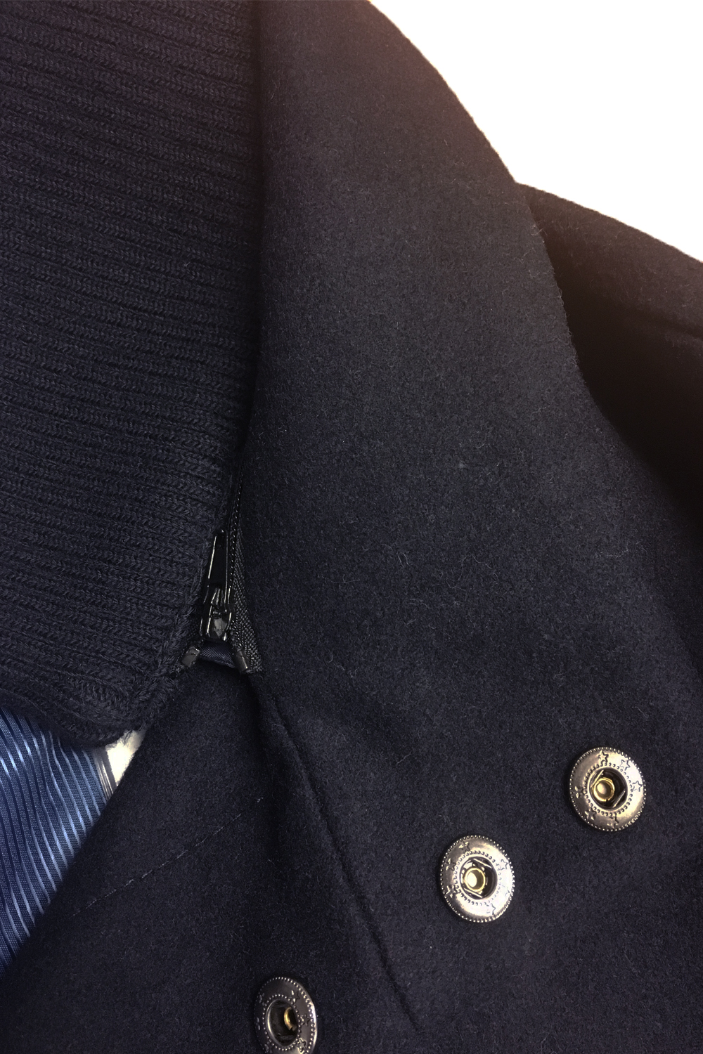 Tokyo-Laundry-Mens-Ackroyd-Smart-Wool-Coat-Funnel-Neck-Zip-Up-Collared-Jacket thumbnail 4