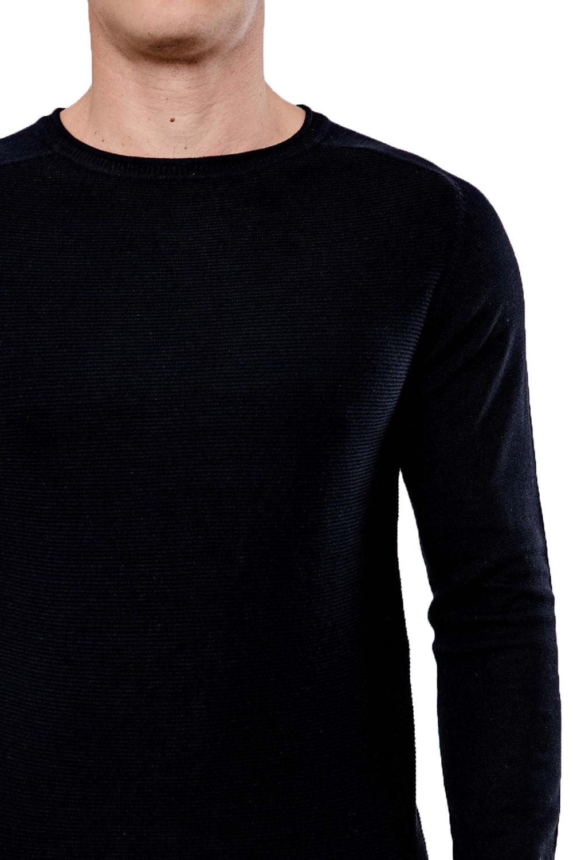 Threadbare-Mens-Bruce-Crew-Neck-Textured-Sweater-Cotton-Raglan-Knitted-Jumper thumbnail 8