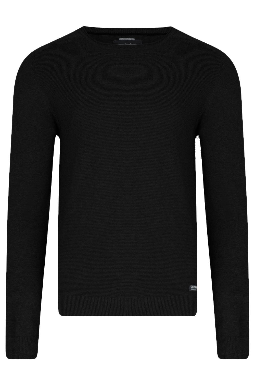 Threadbare-Mens-Bruce-Crew-Neck-Textured-Sweater-Cotton-Raglan-Knitted-Jumper thumbnail 9